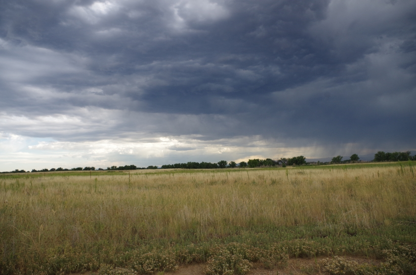 A storm front drifted in over our prairie, as seemed to be our luck on this Colorado excursion.